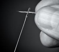 Thread the needle.