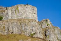 Limestone cliffs Cheddar Gorge Somerset England