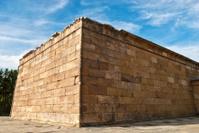 Debod temple in Madrid city