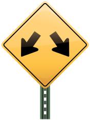 Multiple Lane Freeway Sign