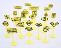 Plastic toy signs