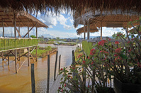 View From a Restaurant at Inle Lake