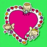 Love hearts frame