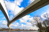 Nescio bridge across river IJ