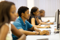 african university students in computer room