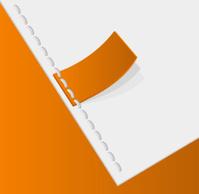 Orange tag stitched