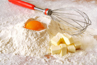 Ingredients ready for baking