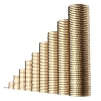 revenue growth in the form of pile golden coins