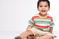 Happy little boy in indoor