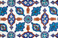 Tile wall decoration of  Rustem Pasha Mosque, Istanbul, Turkey