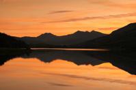 Snowdon Mountain Range Sunset Reflection