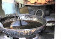 Nepali frying pan. Durbar Square-Kathmandu.