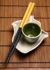 Oriental sticks and plates