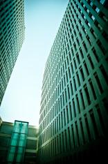 Modern corporate buildings in Barcelona