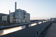 Office buildings at sunset, Frankfurt, Germany