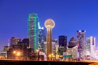 Dallas City Skyline at Night USA