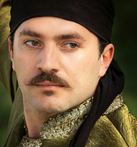 Turkish man with mustache and bandana