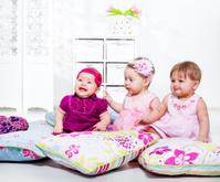 Kids among pillows