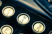 Vintage Typewriter Dollar Sign Key Closeup