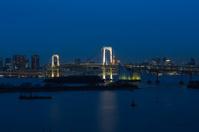 Night view of the big bridge