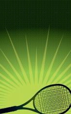 Tennis Racket Burst Background