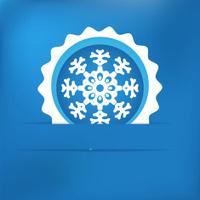Christmas snowflake applique. + EPS8