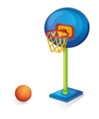 Basketball ring and ball