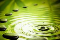 Zen Stones - Water Ripple Green Zen-Like Hot