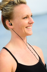 Athletic Woman with Headphones