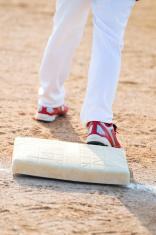 Baseball boy on base