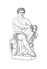 Roman God Mars | Antique Historic Illustrations