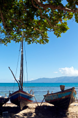 Haiti, Nord, Limbe, fishing boats.