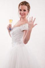 Beautiful attractive caucasian bride in her twenties
