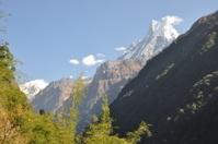Valle en el macizo del Annapurna