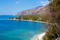 Haiti, Ouest Province, coastline.