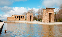 Madrid - The Debod Temple. Authentic Egyptian monument.
