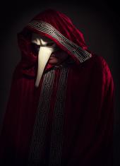sppoky venetian carnival masked man