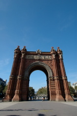 Arc del Triumf in Barcelona on a sunny day