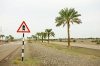 Wadi warning sign