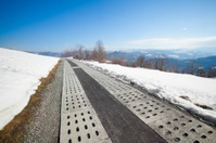 Beautiful winter sunny photo taken in mountains