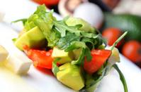 Delicious salad with avocado