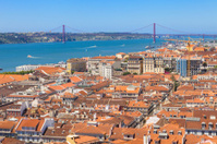 Bird view of Lisboa downtown