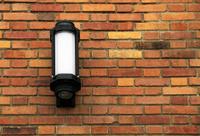 Single Light on Brick Wall