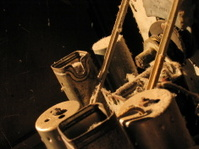 Old tube radio guts