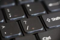 Keyboard Question Mark Detail