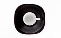 Mug on black plate