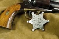 Sheriff Badge on Leather