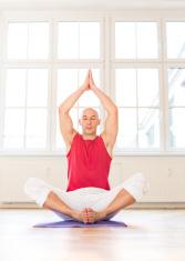Deep meditation while doing yoga