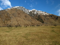 Landscape in Mt Aspiring National Park, New Zealand