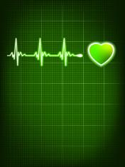 Heart beating monitor. EPS 8
